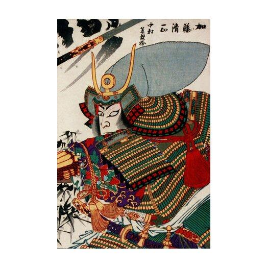 iCanvas Japanese Art Kato Kiyomasa Woodblock Painting Print on Canvas