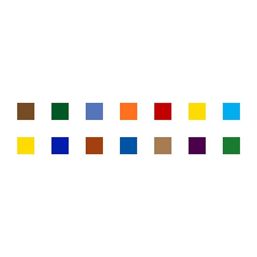 iCanvas Modern Colorful Squares Graphic Art on Canvas