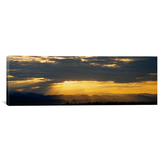 iCanvas Panoramic Clouds in the Sky, Daniels Park, Denver, Colorado Photographic Print on Canvas