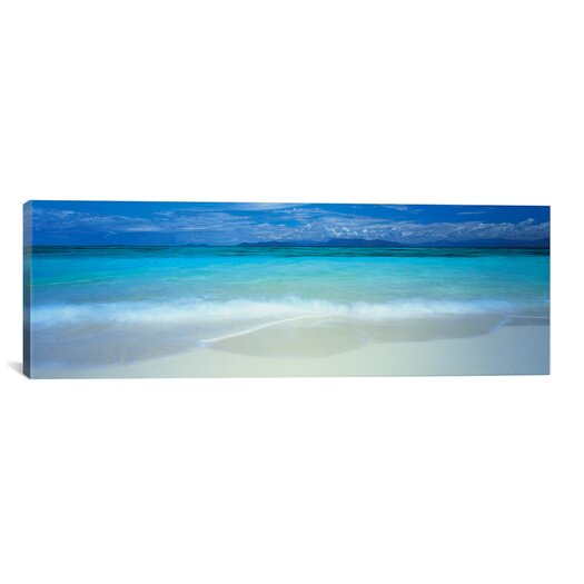iCanvas Panoramic Clouds over an Ocean, Great Barrier Reef, Queensland, Australia Photographic Print on Canvas