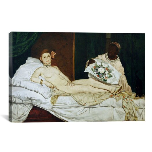 iCanvasArt 'Olympia' by Edouard Manet Painting Print on Canvas