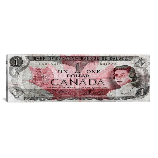 iCanvas One Canadian Dollar 2 Panoramic Graphic Art on Canvas