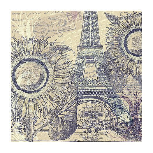"iCanvasArt ""Paris Pastiche II"" Canvas Wall Art by Mindy Sommers"