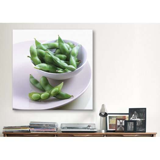 iCanvas Pea Pods on a Plate Photographic