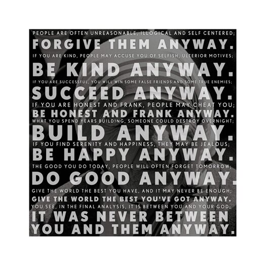 iCanvas Mother Teresa Quote Canvas Wall Art