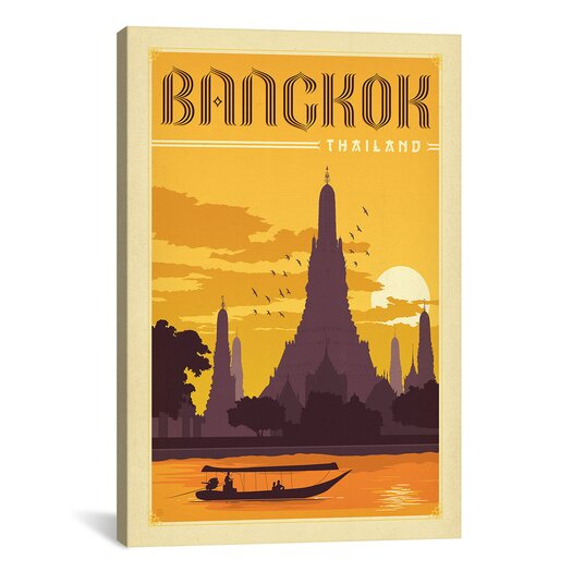 iCanvas Panoramic 'WT Bangkok' by Anderson Design Group Vintage Advertisement on Canvas