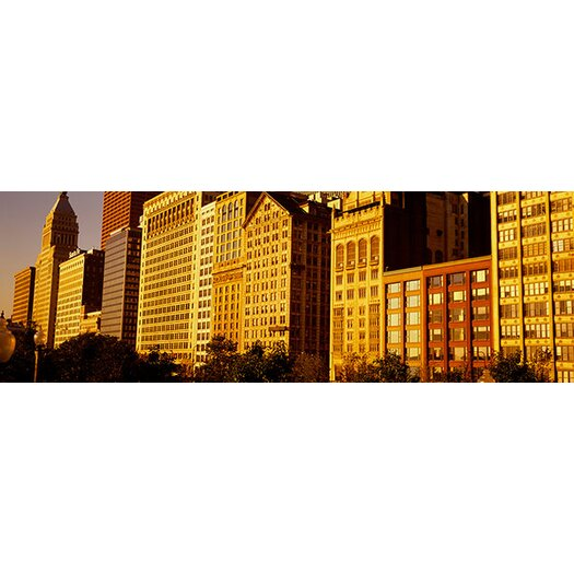 iCanvas Panoramic Michigan Avenue Architecture, Chicago, Illinois Photographic Print on Canvas