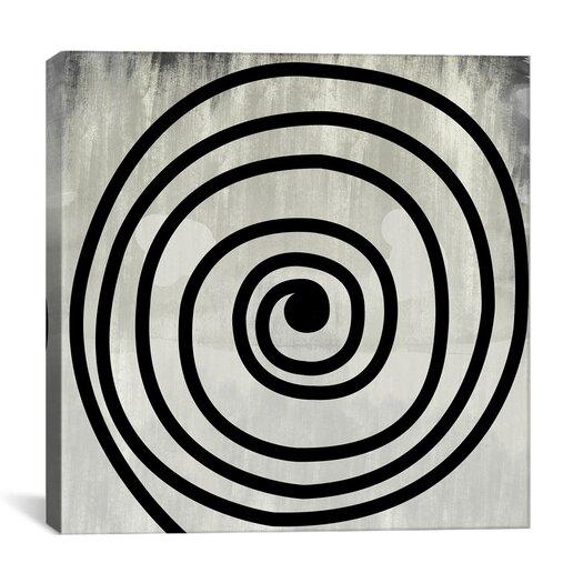 iCanvasArt Modern Art Mid Century Modern Swirl Painting Print on Canvas