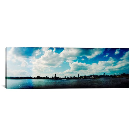 iCanvas Panoramic 'Manhattan Skyline Viewed from East River Park, Brooklyn, New York' Photographic Print on Canvas