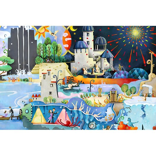 iCanvas 'Panorama' by Youchan Painting Print on Canvas