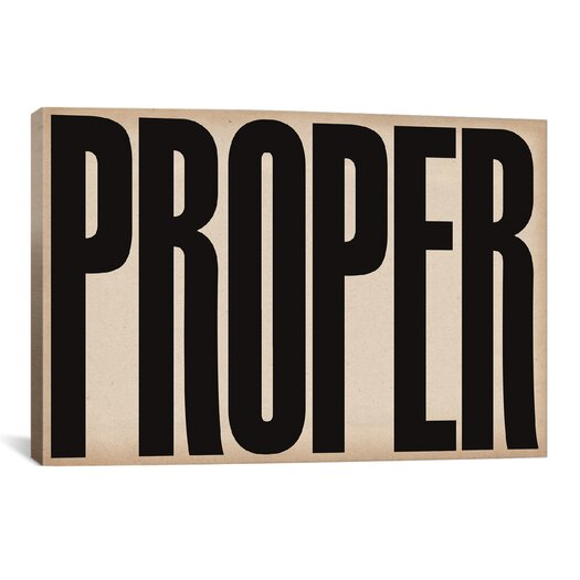 iCanvasArt Modern Art cProper Modern Textual Art on Canvas