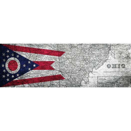 iCanvas Flags Ohio Panoramic Graphic Art on Canvas
