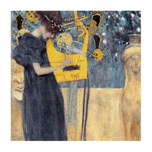 "iCanvas ""Musik 1895"" Canvas Wall Art by Gustav Klimt"