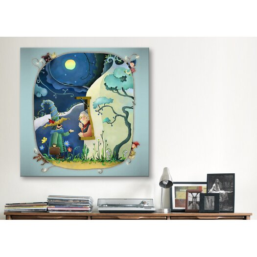 """iCanvas """"Moonlight"""" Canvas Wall Art by YOUCHAN"""