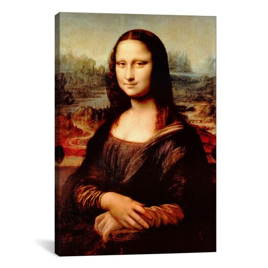 iCanvas 'Mona Lisa' by Leonardo Da Vinci Painting Print on Canvas