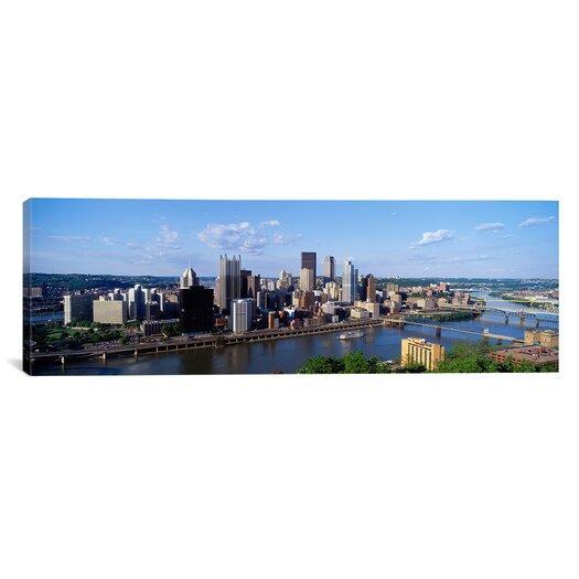 iCanvas Panoramic Monongahela River, Pittsburgh, Pennsylvania Photographic Print on Canvas