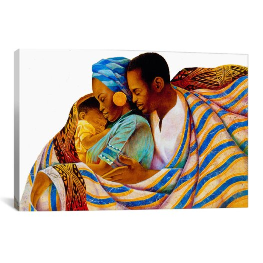 iCanvasArt 'Precious Love' by Keith Mallett Painting Print on Canvas