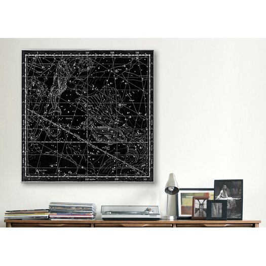 iCanvas Celestial Atlas - Plate 22 (Pisces) by Alexander Jamieson Graphic Art on Canvas in Black