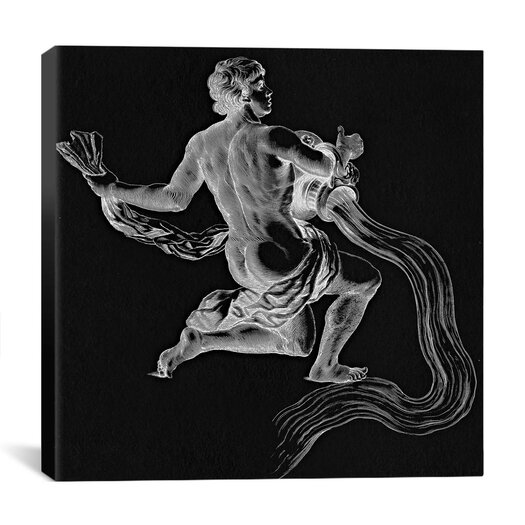 iCanvas Astronomy and Space Water Bearer (Aquarius) Graphic Art on Canvas in Black