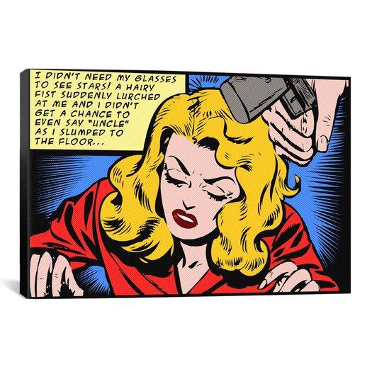 iCanvas Roy Lichtenstein Slumped to the Floor Graphic Art on Canvas in Blonde