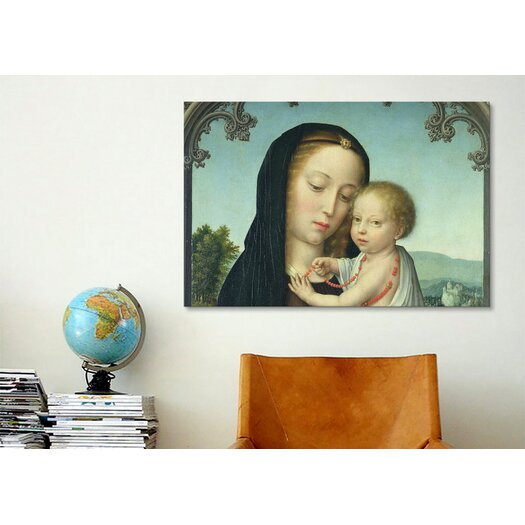 iCanvas Christian 'Virgin and Child' by Gerard David Painting Print on Canvas
