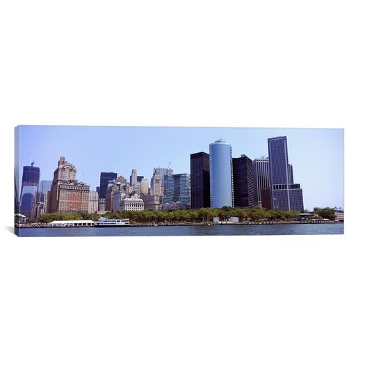 iCanvas Panoramic 'Lower Manhattan, Manhattan, New York City, 2011' Photographic Print on Canvas