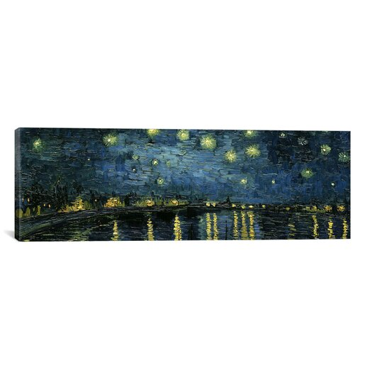 iCanvasArt 'Starry Night over the Rhone' by Vincent Van Gogh Painting Print on Canvas