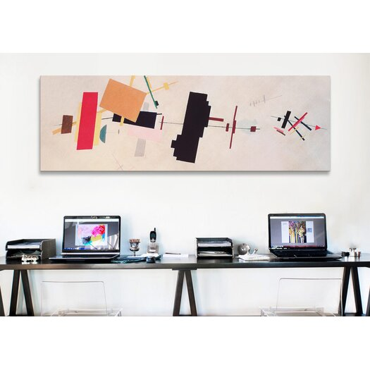 iCanvas Panoramic 'Suprematist Composition' by Kazimir Malevich Graphic Art on Canvas
