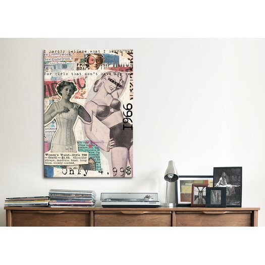 iCanvas 'Vintage Fashion #5' by Luz Graphics Graphic Art on Canvas