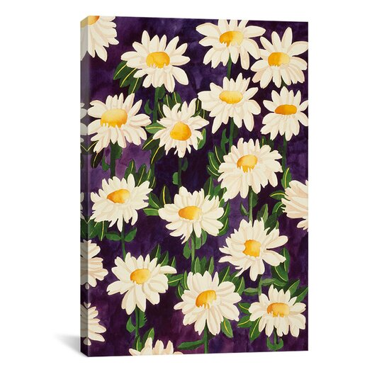 """iCanvas """"Shasta Daisies"""" Canvas Wall Art by Mary Russell"""