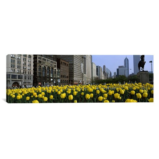 iCanvas Panoramic Grant Park, South Michigan Avenue, Chicago, Cook County, Illinois Photographic Print on Canvas