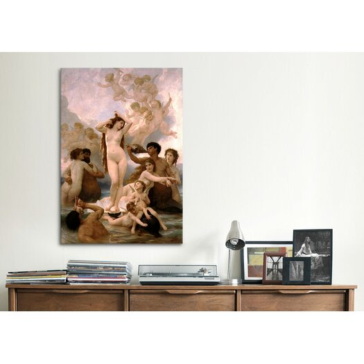 iCanvasArt 'The Birth of Venus' by William-Adolphe Bouguereau Painting Print on Canvas