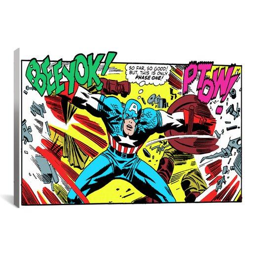 iCanvas Marvel Comics Book Captain America Graphic Art on Canvas