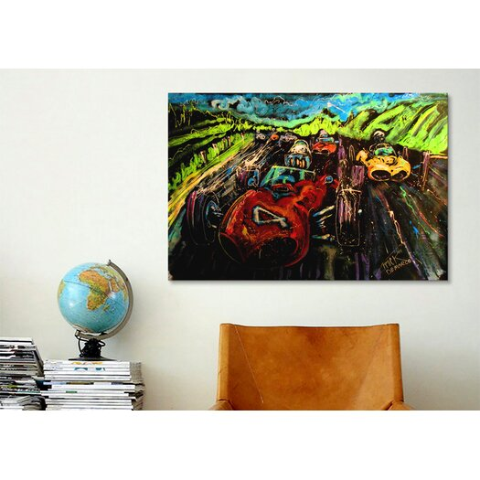 iCanvas Vintage Racing 005  Canvas Print Wall Art