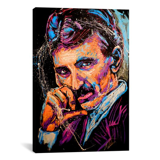 iCanvas Nikola Tesla 003 Canvas Wall Art by Rock Demarco