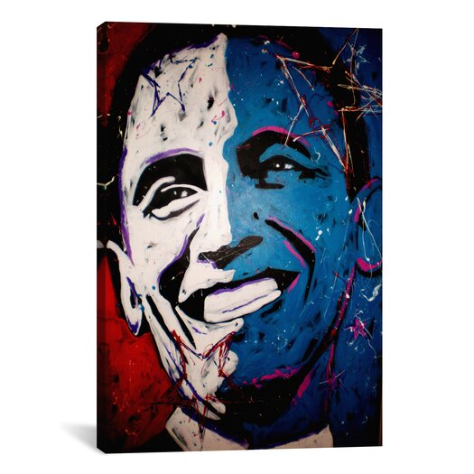 iCanvas Obama Painting 001 Canvas Wall Art by Rock Demarco