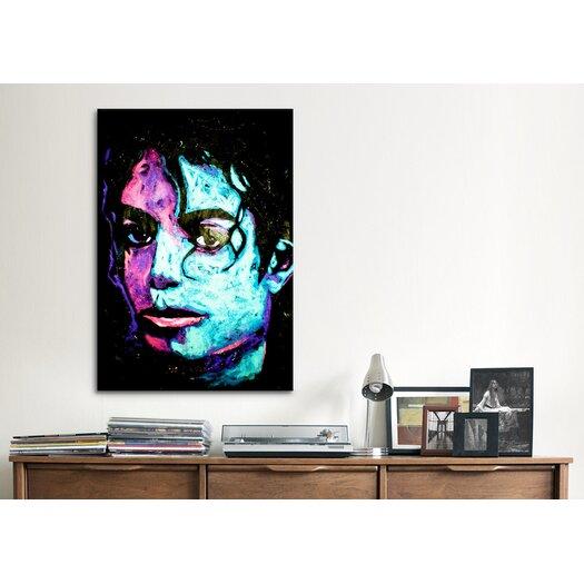 iCanvas Michael Jackson 001 Canvas Wall Art by Rock Demarco
