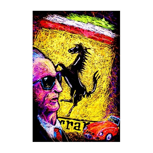 iCanvas Enzo Ferrari Emblem Canvas Print Wall Art