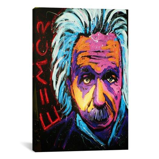 iCanvas Einstein New 001 Canvas Print Wall Art