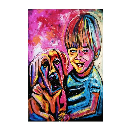 iCanvas Demaio Fam Painting 001 Canvas Print Wall Art