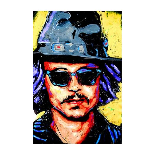 iCanvasArt Depp Art 002 Canvas Print Wall Art