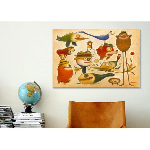 iCanvas 'Critters' by Daniel Peacock Painting Print on Canvas