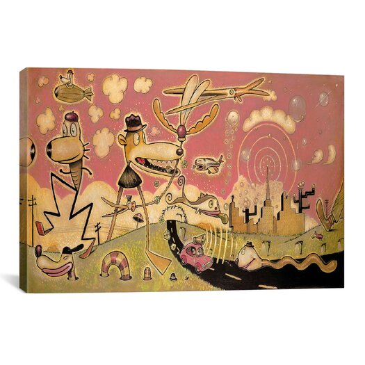 iCanvas 'Funday Morning' by Daniel Peacock Painting Print on Canvas