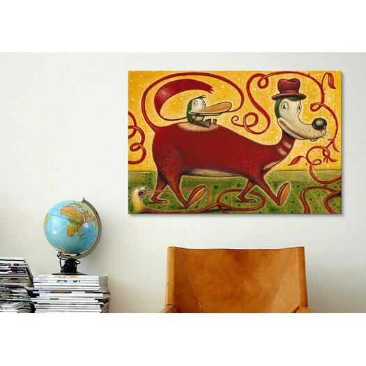 iCanvas 'Hat and Tails' by Daniel Peacock Painting Print on Canvas