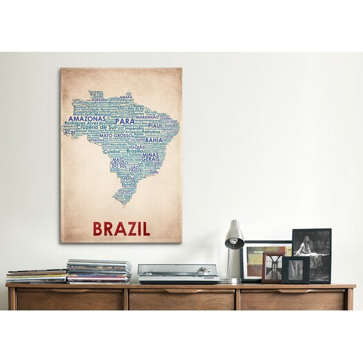 iCanvas American Flat Brazil Graphic Art on Canvas