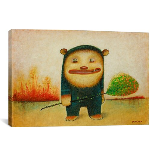 iCanvas 'Blue Bear' by Daniel Peacock Painting Print on Canvas