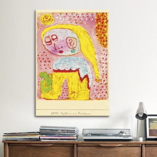 iCanvasArt 'Magdalena Before the Conversion' by Paul Klee Painting Print on Canvas