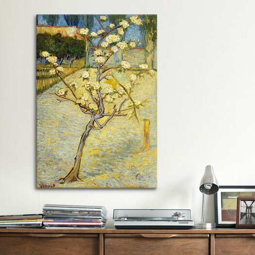 iCanvas 'Small Pear Tree in Blossom' by Vincent Van Gogh Painting Print on Canvas