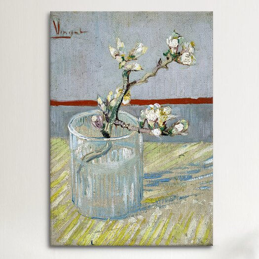 "iCanvas ""Sprint of Flowering Almond Blossom"" by Vincent Van Gogh Canvas Painting Print"