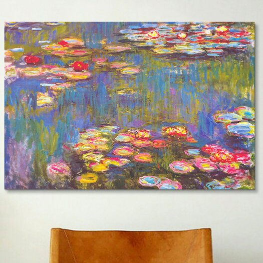iCanvas Water Lilies, 1916 by Claude Monet Painting Print on Canvas